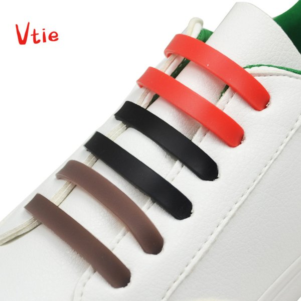 12pcs/lot Colorful Women Men Lazy Athletic Running No Tie Shoelaces Fashion Elastic Silicone Shoe Lace All Sneakers