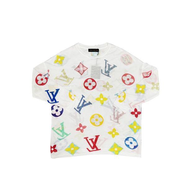 19SS Luxury Paris brand Design L Full Print Hoodie Long sleeve Crewneck Sweater Sweatshirt Fashion Pullover Hoodie Outdoor V Sweatshirt