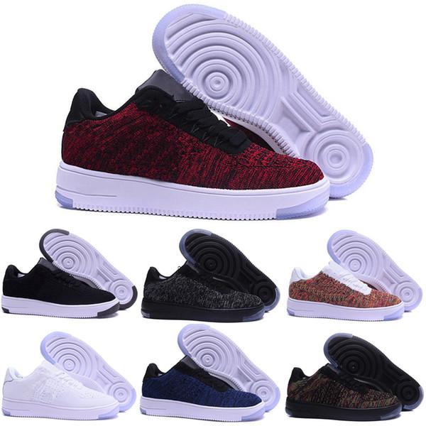 Nike air max force 1 fly 2018 de alta qualidade forcing moda cork homens mulheres one 1 tênis de corrida de alta corte baixo todos os brancos preto marrom cor tênis casuais tamanho
