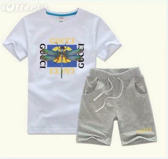 2019 HOT SELL New Style Children's Clothing For kids Boys And Girls Sports Suit Baby Infant Short Sleeve Clothes Kids Set 2t-9t