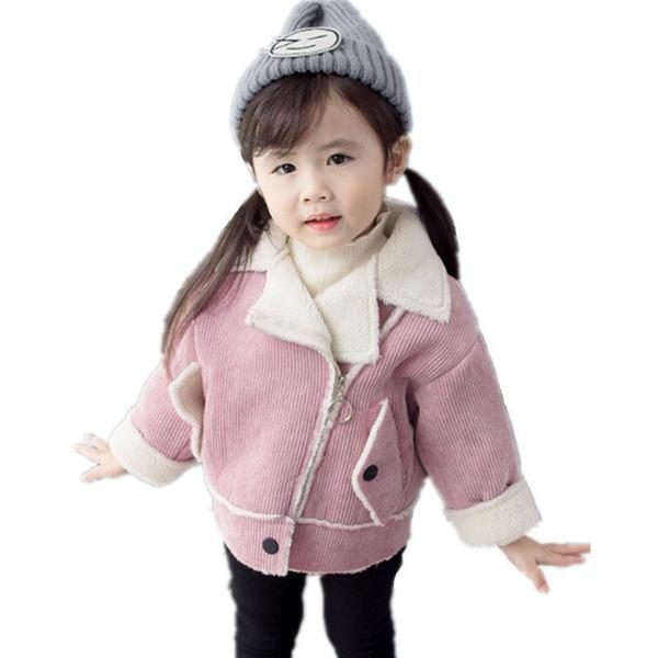 Winter Little Baby Outerwear Girls Jackets Kids Clothes Toddler Warm Thick Girls Coat Children Jackets Winterjas Meisjes Casual