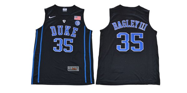custom 2018 Draft Hot Blue Devils #35 Marvin Bagley III White Basketball College Jersey Stitched Customize any number name MEN WOMEN YOUTH