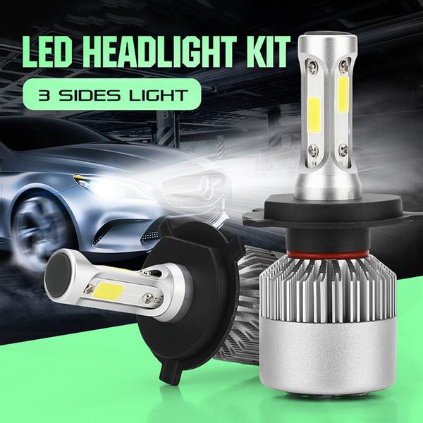 top popular 2Pcs lot Car LED Lamp H4 H7 H1 H3 9006 Auto Headlight 72W 8000LM High Beam Bulb H8 H11 Fog Light DHL Shipping 2019