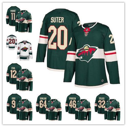 Minnesota Zach Parise Mikko Koivu Devan Dubnyk Ryan Suter Eric Staal Wild Fanatics Branded Breakaway Home hockey Jersey