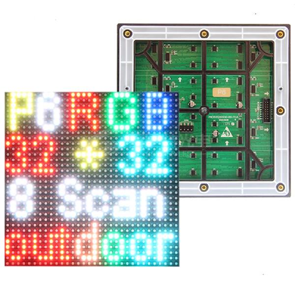 O módulo exterior conduzido RGB da exposição de P6 Smd 192x192mm, pixéis 32x32 exterior O painel completo conduzido da propaganda de negócio P6 exterior