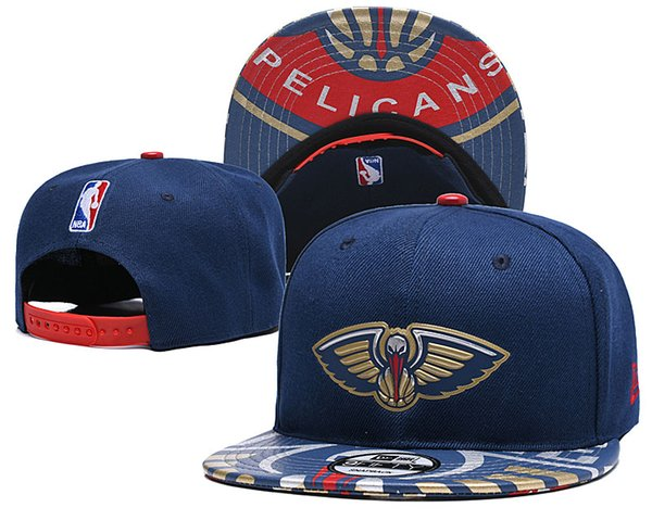 Men's Youth New O Pelicans New Navy/Red Black Two-Tone 9FIFTY Snapback Adjustable Hat Ball Caps