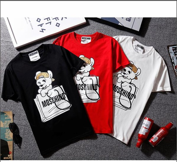 new M*brand T-Shirt high quality cotton Men's T-Shirts shark Men Women Hip Hop T-Shirt kanye west fear of god Short sleeve