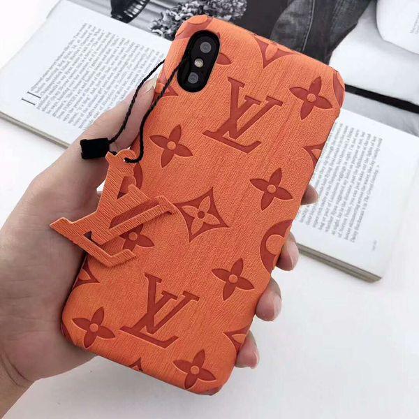 Cas de téléphone de luxe pour IPhoneX / XS XR XSMAX Coque Iphone Designer Iphone7 / 8plus IPhone7 / 8 6 / 6s 6 / 6sP avec lettres de la marque 8 styles