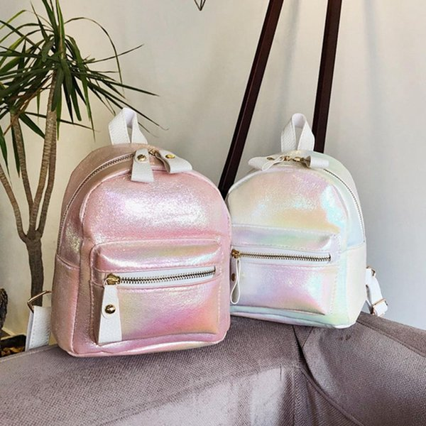 1 pc mini simple pu leather backpack kids girls women double shoulder school bag travel satchel backpack dropship new arrival - from $30.08