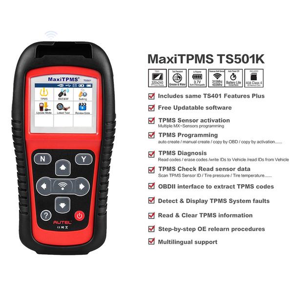 Autel MaxiTPMS TS501 TPMS Tire Pressure Sensors Activate And Decode Tool  Tire Pressure Monitor System Tpms Diagnostic Tools Diagnostics Car
