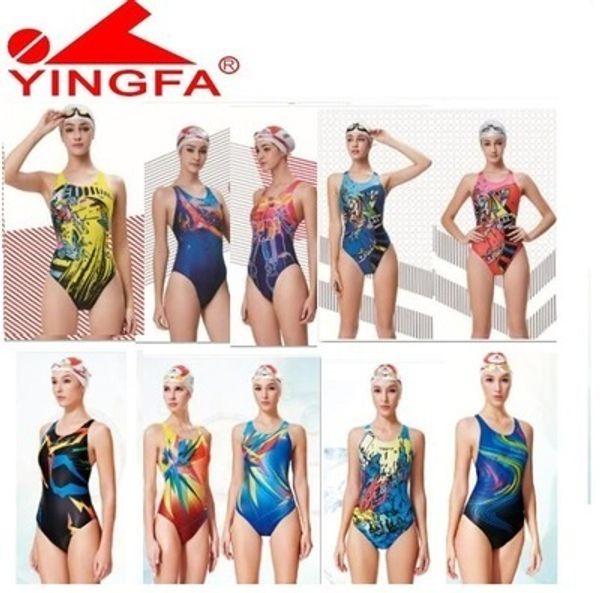 Yingfa swimwear mulheres maiôs crianças de corrida crianças maiô competitivo meninas competição de treinamento maiô profissional y19072701