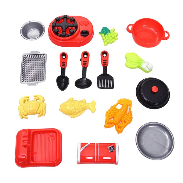 top popular Kids Kitchen Pretend Play Set - Including Cooker Cookware Utensils and Food - Playset Accessories for Toddlers Girls Boy Birthday Gift 2021