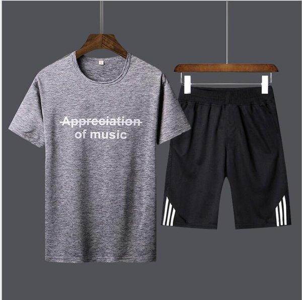 Sportsuits Homens Pólo Ternos de Verão 2 PC Respirável Curto Set Men Design Moda T-shirt Shorts Treino Conjunto de Tendências Estilo