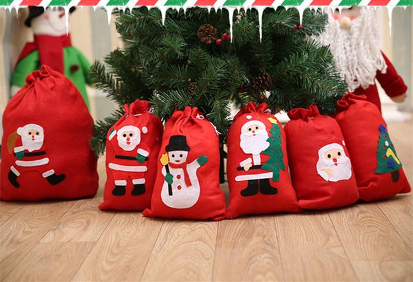 Clever Christmas Gifts.Cute Christmas Gift Bags Santa Claus Snowman Big Backpack Kids Banquet Xmas Gifts Holders Bag Home Party Christmas Decorations Christmas Boy Toys Top