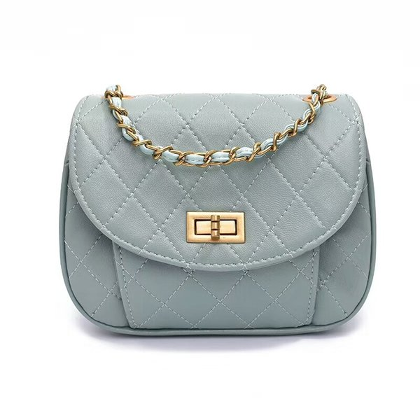 Fashion diamond lattice thread design lambskin mini cell phone pouch women small chains cover flap shoulder bag more color messenger bags