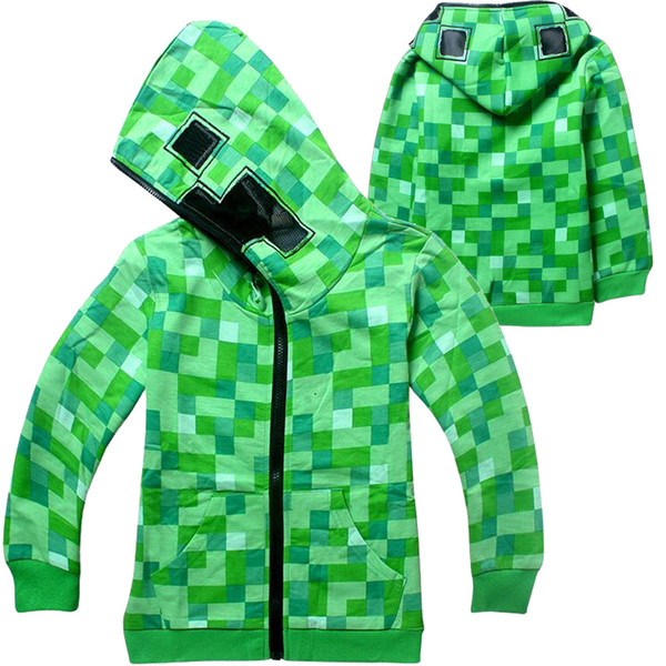 best selling Hot Game Printed Kids Hoodies 4-14t Kids Boys Cartoon Zipper Hoodies Spring and Autumn Boys Outdoor Coat Kids Designer Clothes DHL SS253