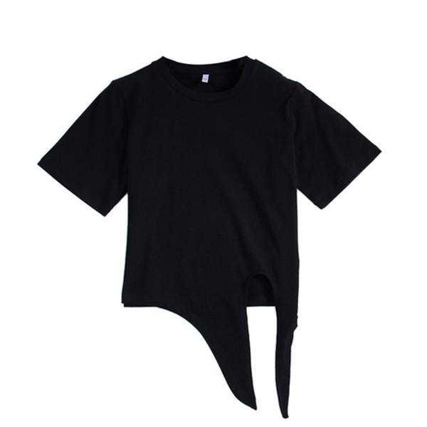 GGRIGHT harajuku Bow T Shirt Women Korean Style Short T-Shirt Female Cotton Woman Tshirt 2019 Summer Casual Tee Shirt