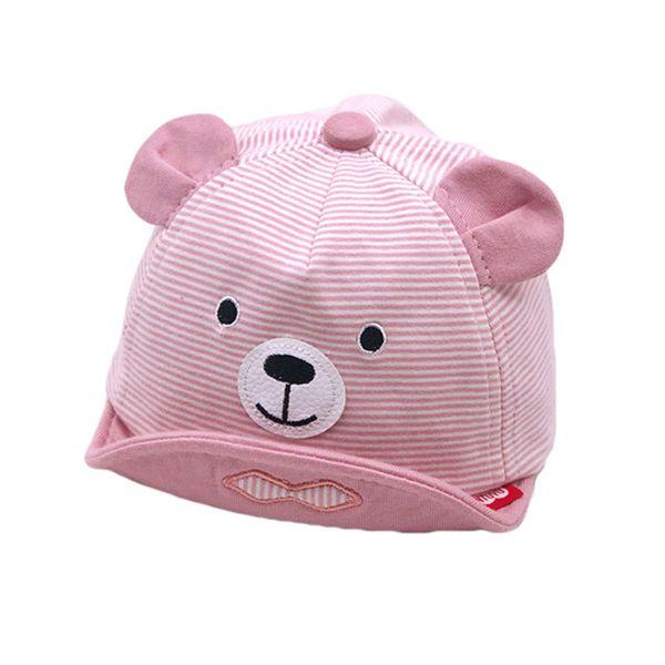 Kids Baseball Cap Baby 2019 Spring New Girl Boys Cartoon Stripe Baseball Hat Adjustable Soft Brim Hat Caps Cotton Chapeu MZ7230