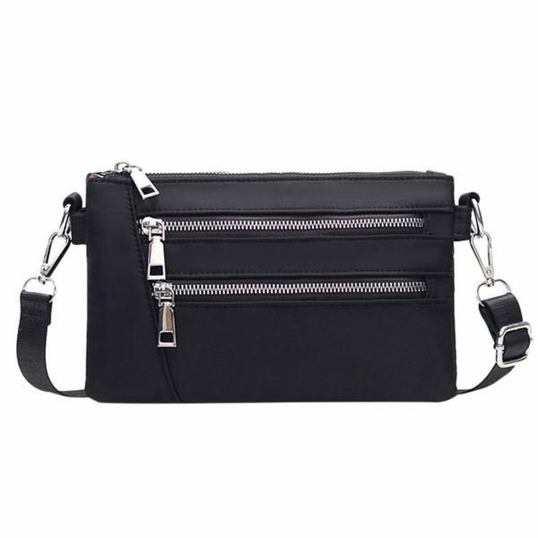ISHOWTIENDA 2019 Women Nylon Waterproof And Wear-Resistant Messenger Bag Fashion Zipper Shoulder Bag bags for women bolso mujer
