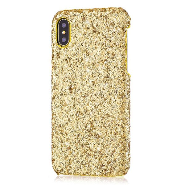 Gold Bling Shimmer Powder Bling Phone Case for Iphone X XS MAX XR 8/7 6 6s 5 5S Plus Cellphone Bulk Luxury Sparkle Rhinestone Cover