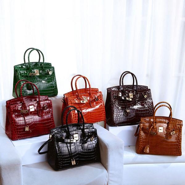 NEW Genuine Leather Women Handbags Luxury Designer Female Shoulder Crossbody Bags Fashion Totes Crocodile pattern Messenger Bags