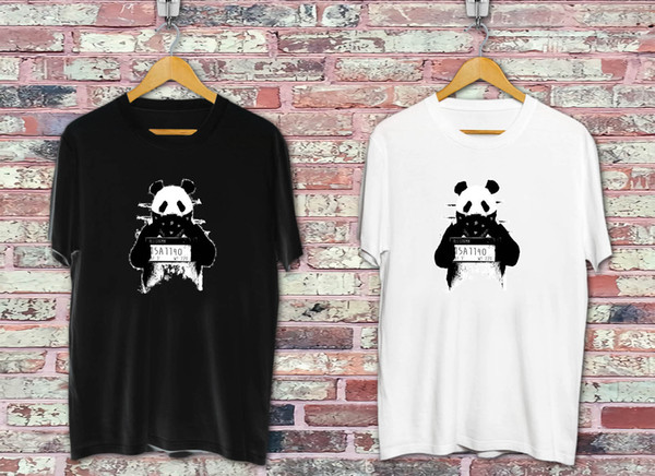 Bad panda Black & White T-shirt Cool xxxtentacion marcus and martinus tshirt discout hot new top free shipping t-shirt