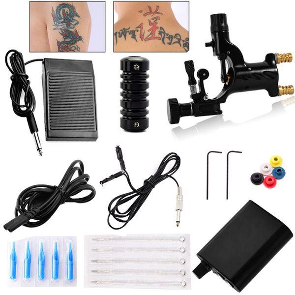 Tattoo Machine Equipment for Beginners Permanent Makeup Rotary Tattoo Machine Set Professional Complete Power Supply Kit