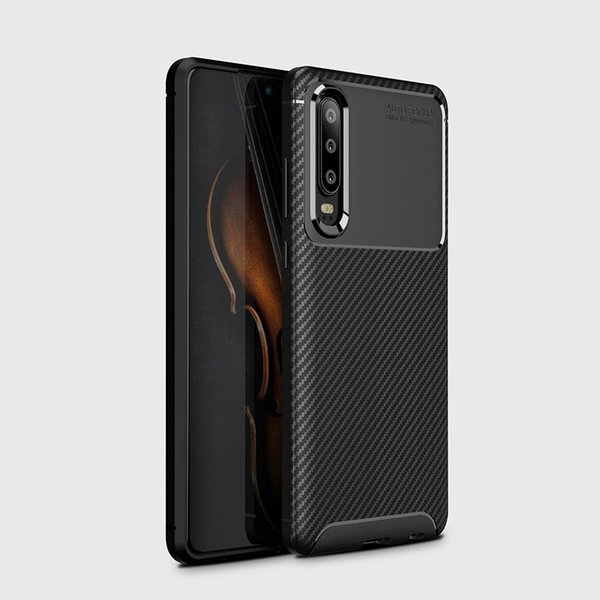 Carbon Fiber Case For Huawei Mate 30 Pro Mate 20 20Pro Shockproof Silicone Bumper Back Cover For Huawei P30 Pro P20 Lite