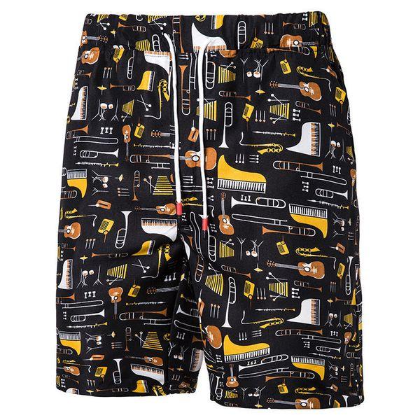 Cool2019 Man European Enlarge Code Leisure Time Printing Fivepence Pants Sandy Beach Shorts K Cd