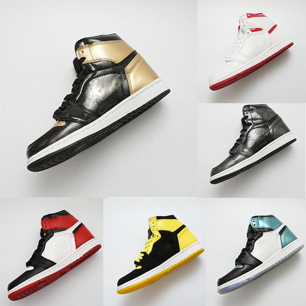 Scarpe da pallacanestro Gold Bred Toe 1 OG per scarpe da uomo di design Chicago 1S Scarpe da ginnastica 6 anelli da ginnastica DONNE MID New Love UNC EUR 36-47