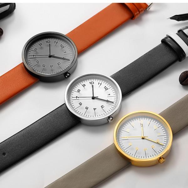 GEEKTHINK Top Marca de Lujo Reloj de Cuarzo Hombres Correa de Cuero de Moda  Casual Japón 0803492464d5
