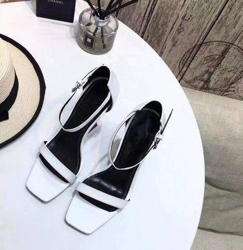2019 spring and summer new women's wild one-button buckle with high-heeled sandals 11cm high