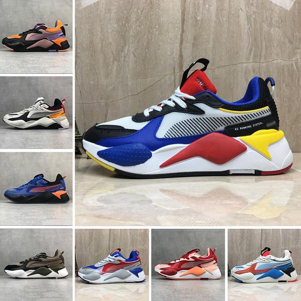 PUMA Lüks RS-X Yeniden Teşvik Mens rahat Ayakkabılar Serin Siyah beyaz Moda Creepers baba Yüksek Kaliteli Erkek Kadın Koşu Trainer spor Sneakers 36-45