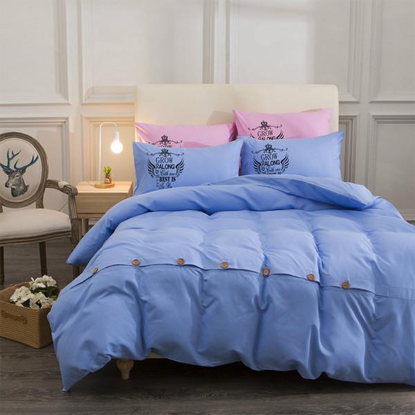 19 Colors Bedding Textile Comfort Cotton Soft Duvet Cover Set With Pillowcase Sheets Four-Piece Set Duvet Cover 4 Size