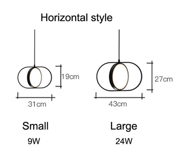 Estilo horizontal tamanho pequeno