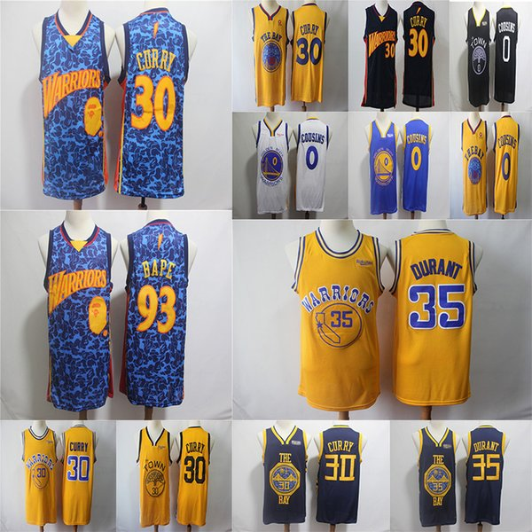 on sale 09e80 e6c9b 2019 Stephen 30 Curry 35 Durant 0 Cousins 201819 Swingman Jersey Earned  Warriors Basketball Jerseys From Dajijersey, $27.19 | DHgate.Com