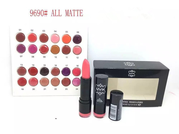 FREE SHIPPING HOT good quality Lowest Best-Selling good sale NEW NYX Matte Lipstick 24 PCS