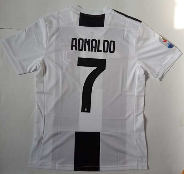 new product 0f700 9b349 2018 Juventus Soccer Jersey Men Home Colour Black And White 2019 #7 RONALDO  Fan Version Soccer Shirt Size S 4XL From Excellentboy03, $16.25 | ...