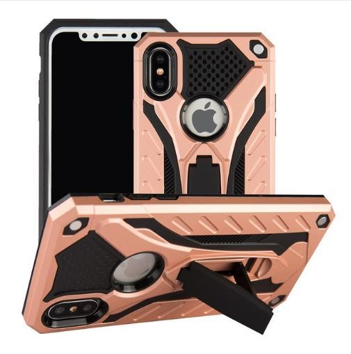 Case For iPhone 7 8 Shockproof Military Drop Tested Silicon Case For iPhone 6 6s Plus X XS XR Max Kickstand TPU Cover Coque Cover