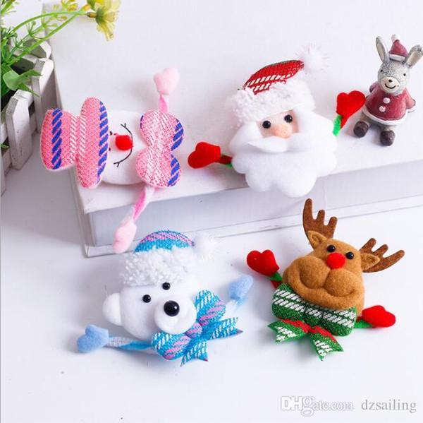 Broches de Noel badge avec lumiere Noel decor ornements Santa Clause enfants jouets home festival decoration produits nouveau