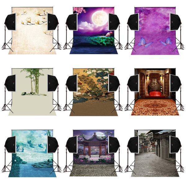 custom 5X7FT moonlight chinese garden vinyl photography backdrop photo background digital music studio prop comunion decoracion for party
