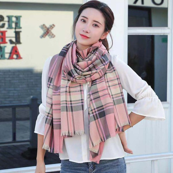 Maxi New 3 colors Buri Berry plaid shawl female high-grade classic wool shawl, warm scarf for cold weather, match with windbreaker