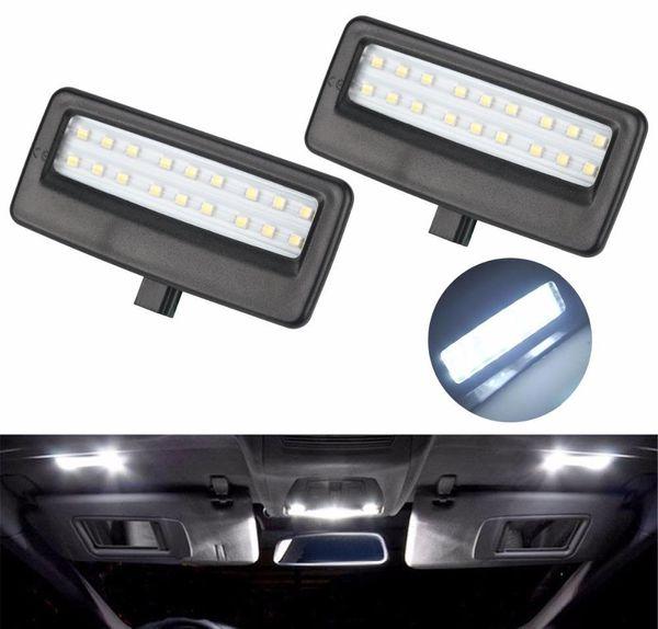 2pcs voiture style auto LED lampe miroir miroir de lecture liseuses ampoules pour BMW F10 F11 F07 F01 F02 F03 5 série 7 série xénon blanc