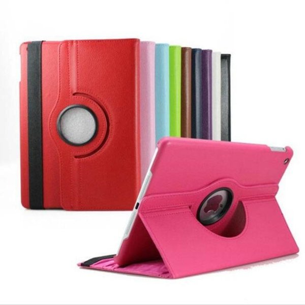 360 rotate holder cases for ipad 2 3 4 mini air2 2018 pro solid color Clemence leather fold protector case dormancy protector cover GSZ065