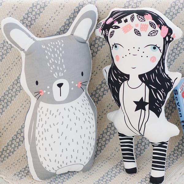 tuffed Animals Plush Stuffed Plush Animals Ins Hot Creative Unicorn Little Girl Bear Fox Rabbit Rainbow Cloud Pillow Cushion Unicorn Baby...