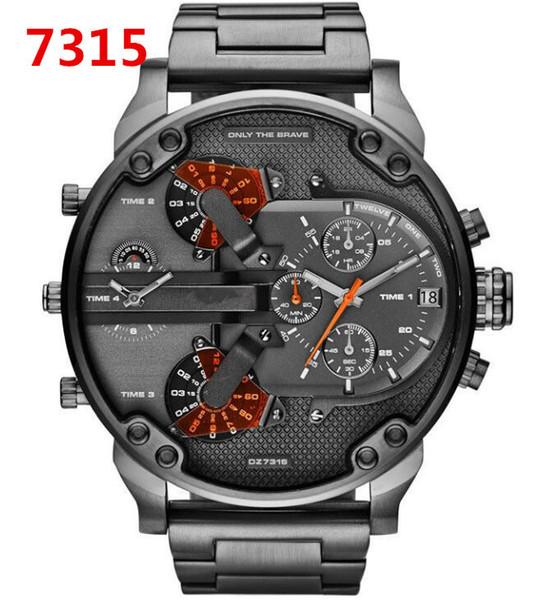 Brand High Quality DZ7315 Mr.Daddy 2.0 men's Fashion Sports Watch Quartz movement Stainless steel case Band Watch 57 mm