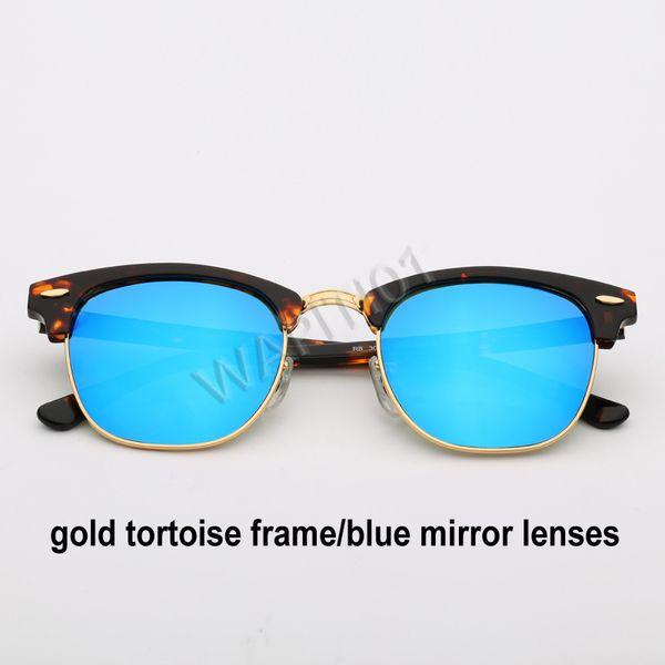 الذهب السلحفاة مرآة زرقاء