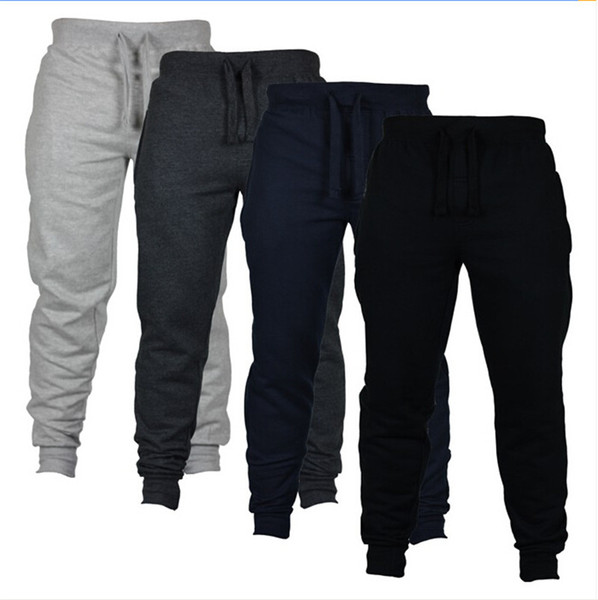 4 Renkler Jogging Yapan Pantolon Sıska Erkekler Yeni Moda Uzun Pantolon Düz Renk Açık Koşu Rahat Pantolon Erkek Pantolon