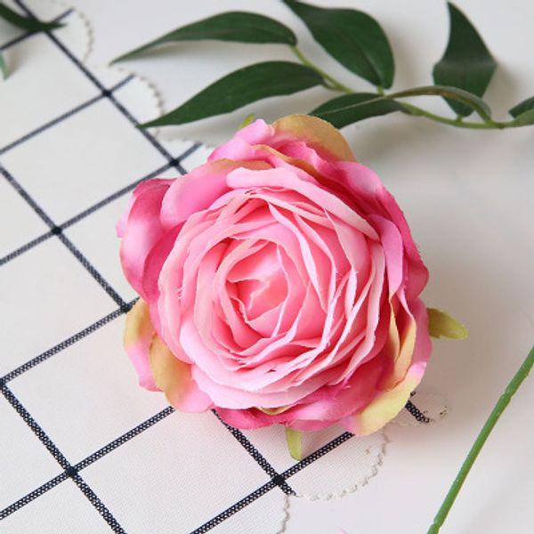 9cm-3 rose flower head