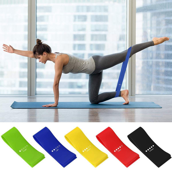 best selling 5Pcs Lot Resistance Band Latex Pull Band Sports Fitness Yoga Band Resistance Fitness Belt Tension Belt Strength Training ZZA980